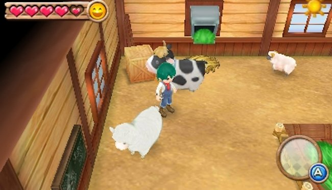 Harvest Moon 3D: A New Beginning (3DS) – it's a good job all these animals get along