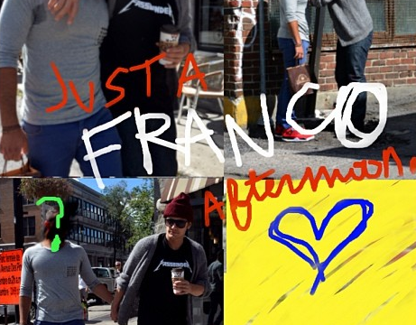 James Franco plays up to gay rumours with spoof paparazzi pictures as fans left confused