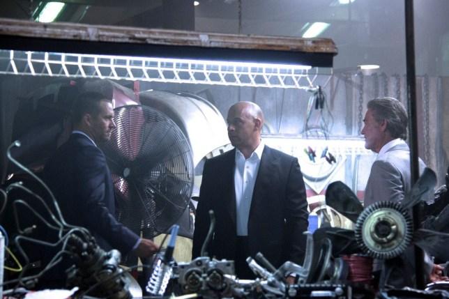 Kurt Russell is pictured alongside Vin Diesel and Paul Walker (Picture: Vin Diesel/Facebook)