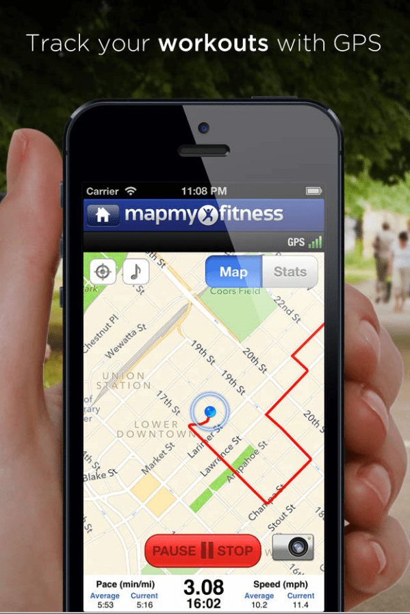 Apps such as Map My Fitness have been accused of selling users' information (Picture: MapMyFitness)