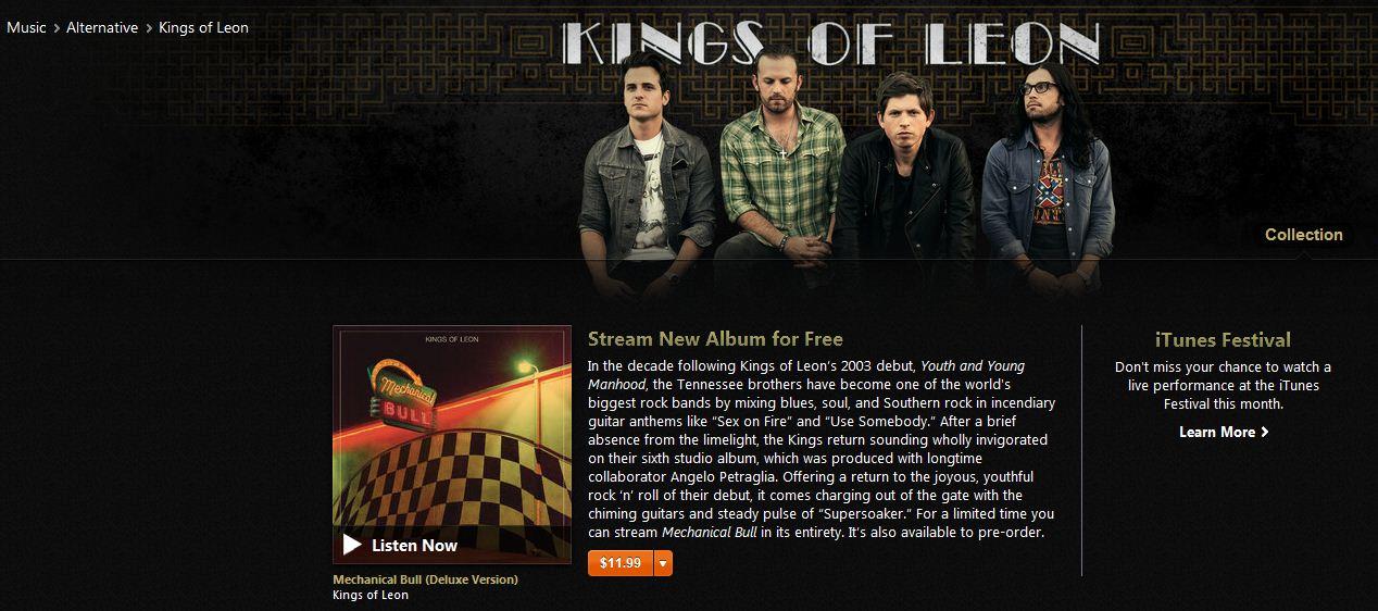 Kings of Leon stream new album Mechanical Bull in full