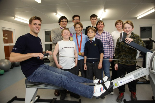 National Lottery Olympic Gold Medallist Pete Reed inspiring the next generation