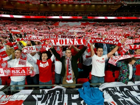 Poland fans take over Wembley for England's crucial World Cup qualifier