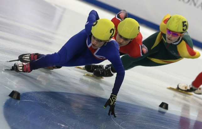 Elise Christie is four months away from the Games (Picture: AFP/Getty Images)