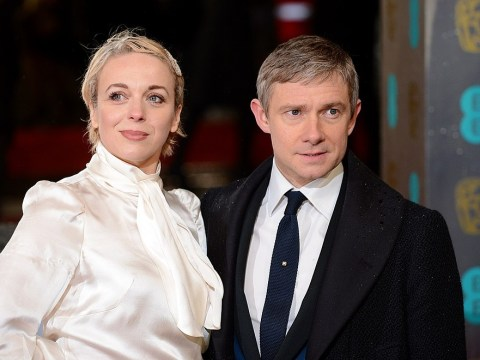 Sherlock's Amanda Abbington admits it was 'so weird' filming scenes as new parents with ex Martin Freeman