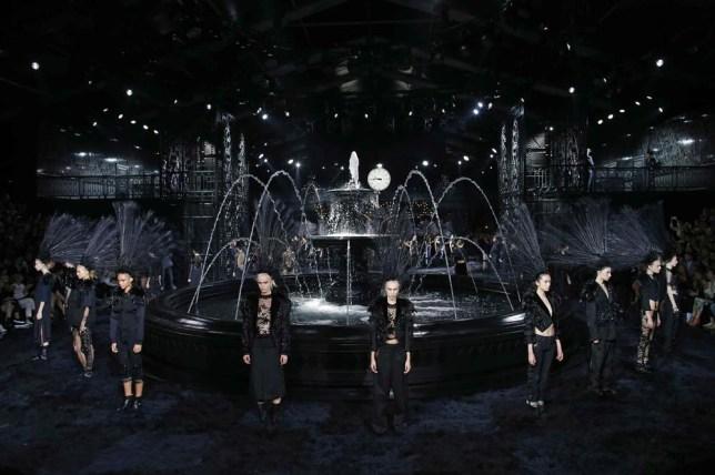 Marc Jacobs' stunning final show for Louis Vuitton during Paris Fashion Week SS14 (Picture: REUTERS/Benoit Tessier)
