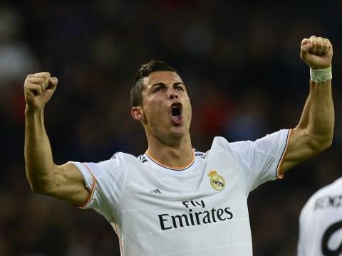 Cristiano Ronaldo offers mock salute to Fifa chief Sepp Blatter – video