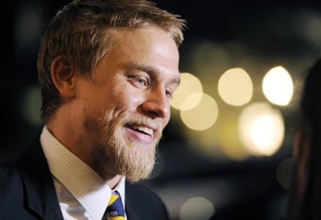 """Charlie Hunnam, a cast member in """"Sons of Anarchy,"""" is interviewed before a screening of the fourth season premiere of the television series, Tuesday, August 31, 2011, in Los Angeles. The premiere is set on air on the FX network on Sept. 6. AP"""