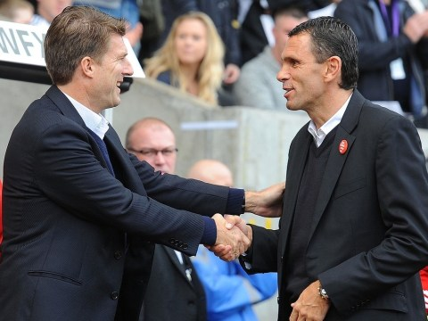 Swansea boss Michael Laudrup tells Sunderland counterpart Gus Poyet: There's no need to panic