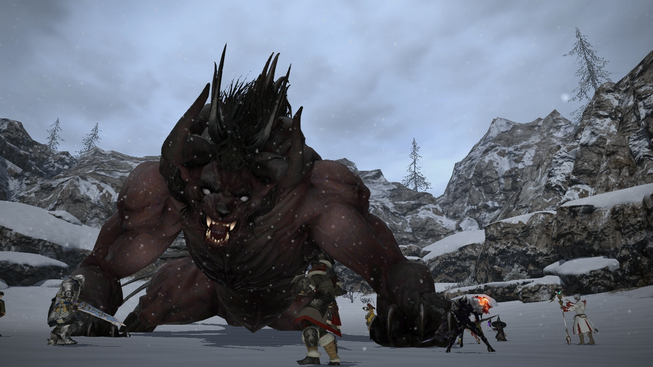 Final Fantasy XIV: A Realm Reborn - fighting with friends