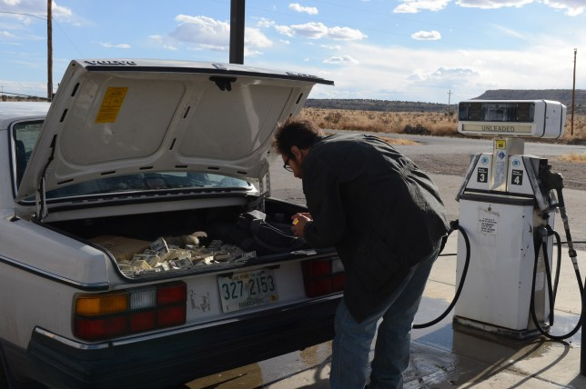 The Breaking Bad team were initially unsure how to use Walt's M60 gun (Picture: AMC)