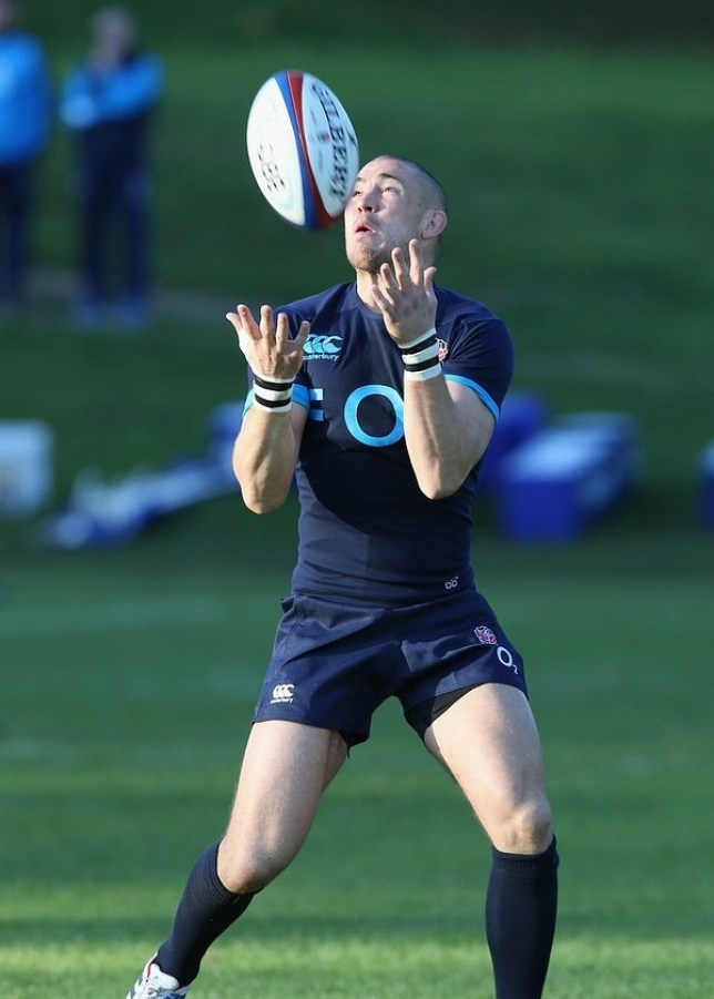 BAGSHOT, ENGLAND - OCTOBER 28: Mike Brown catches the ball during the England training session held at Pennyhill Park on October 28, 2013 in Bagshot, England. Getty Images