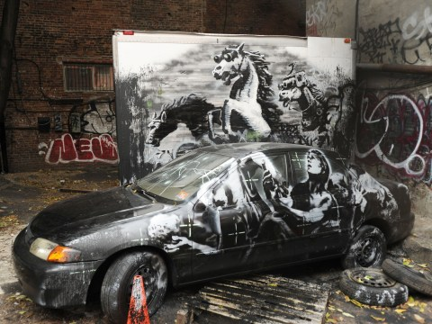 Gallery: Banksy's graffiti appears all across New York City