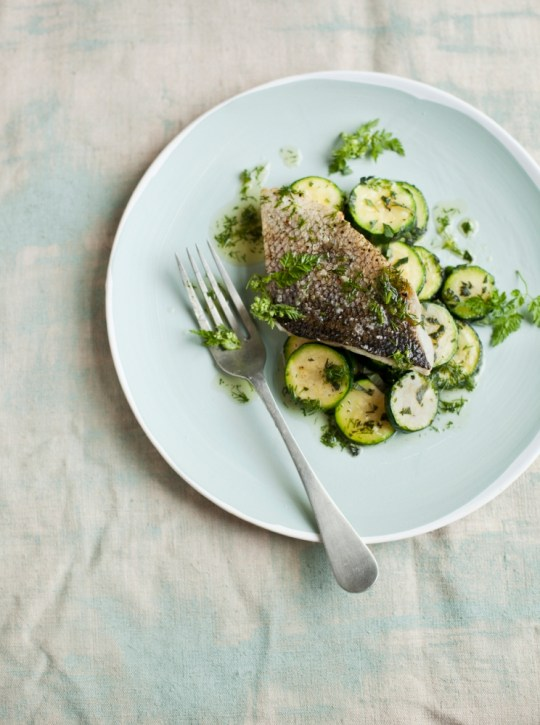 Roast fish with dill butter and courgettes (Picture: supplied)
