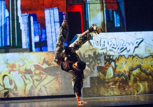 Urban dance and circus tricks collide to dizzying effect in iD (Picture: Tristram Kenton)