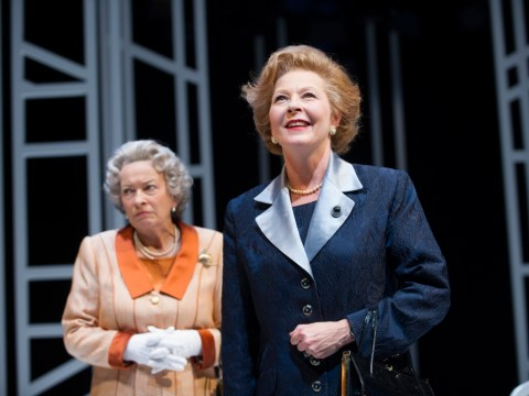 Margaret Thatcher and the Queen politely duke it out over tea to fantastic effect in Handbagged