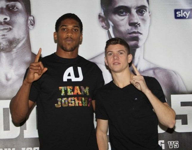 CARPE DIEM PRESS CONFERENCE INTERNATIONAL HOTEL LONDON PIC;LAWRENCE LUSTIG OLYMPIC HEAVYWEIGHT GOLD MEDALIST ANTHONY JOSHUA  WITH FELLOW OLYMPIC CHAMPION LUKE CAMPBELL AS HE GETS READY TO FACE  ITALIAN OPPONENT EMANUELE LEO ON HIS DEBUT AT THE 02 ON SATURDAY