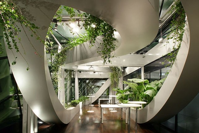 The Slovenian Chamber of Commerce and Industry incorporates a lot of foliage (Picture: WENN)