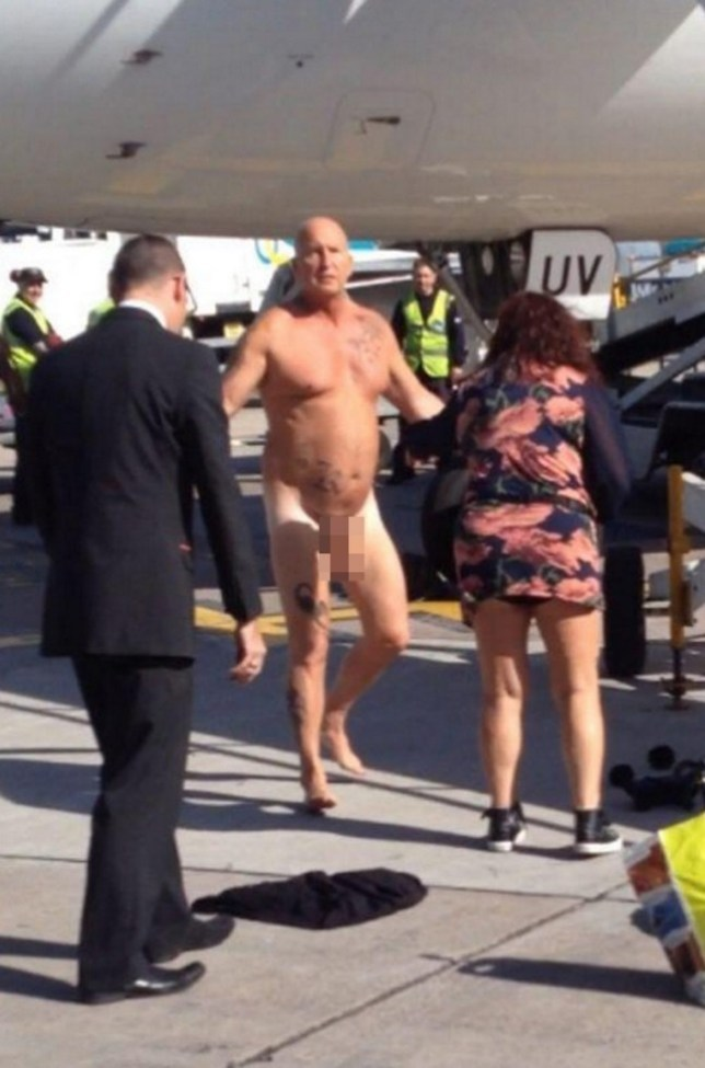 Drunk naked easyJet passenger tasered at Manchester airport