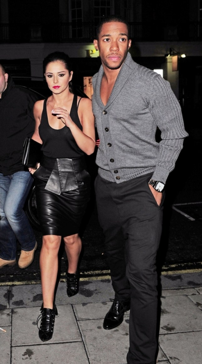 Cheryl dresses up for date night (Picture: Xposurephotos)