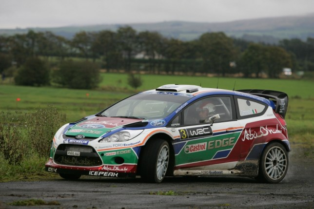 A file picture of a rally car. Three people were injured today when a rally car crashed into a father and his two children in Shepton Mallet (Picture: File)