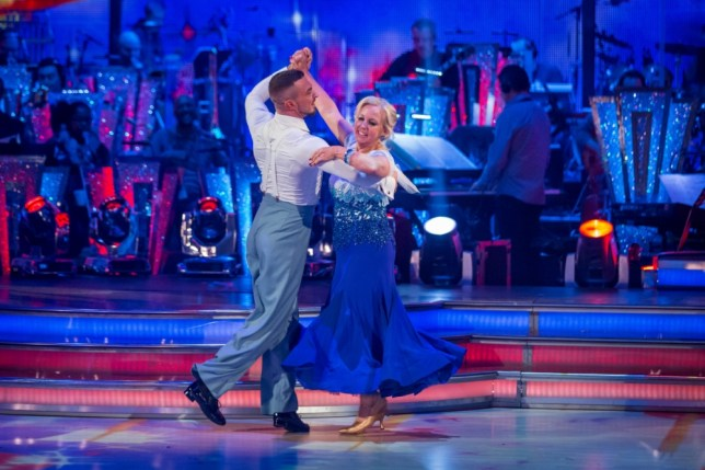 Deborah Meaden and Robin Windsor performing during rehearsals for the BBC programme Strictly Come Dancing. (Picture: PA)