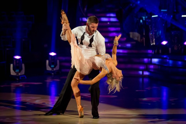 Kristina Rihanoff and Ben Cohen performing during rehearsals for the BBC programme Strictly Come Dancing. (Picture: PA)