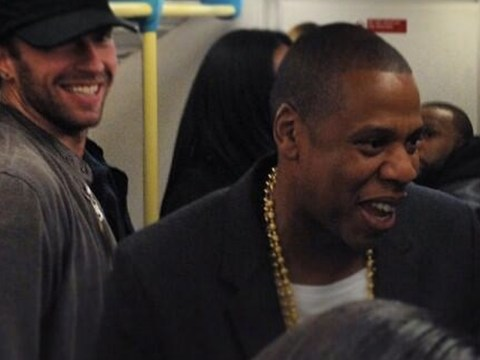 Jay Z and Chris Martin shock fans by taking the Tube to Magna Carta Holy Grail gig at London's O2 Arena