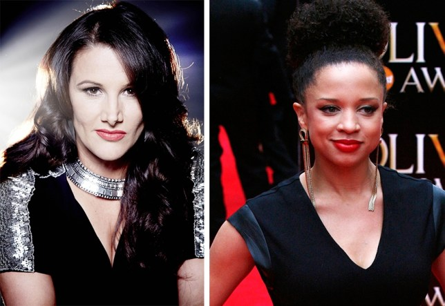 Face Off: Sam Bailey takes on Strictly's Natalie Gumede (Picture: FILE)