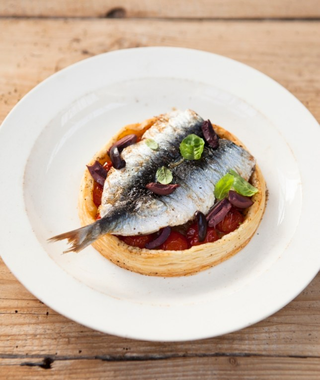 Tomato Tart and Sardine (Picture: Supplied)