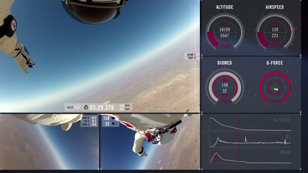 Relive Felix Baumgartner's space jump from his perspective