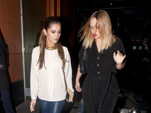 Only Girls Aloud: Single Cheryl Cole and Kimberley Walsh enjoy girls' night out