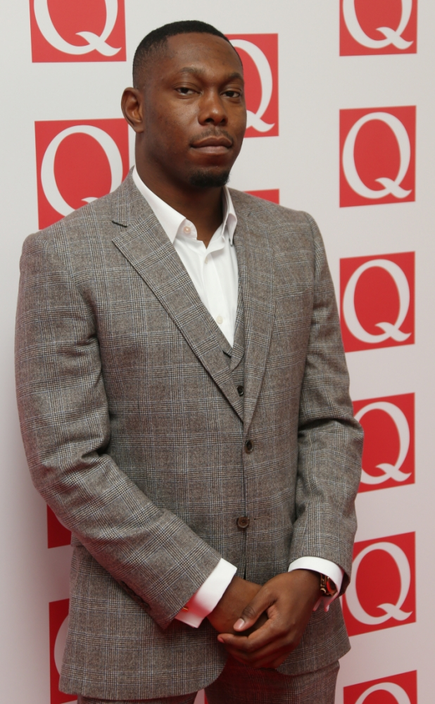 British musician Dizzee Rascal arrives on the red carpet for the 2013 Q Awards, at a central London hotel, Monday, Oct. 21, 2013. (Photo by Joel Ryan/Invision/AP)