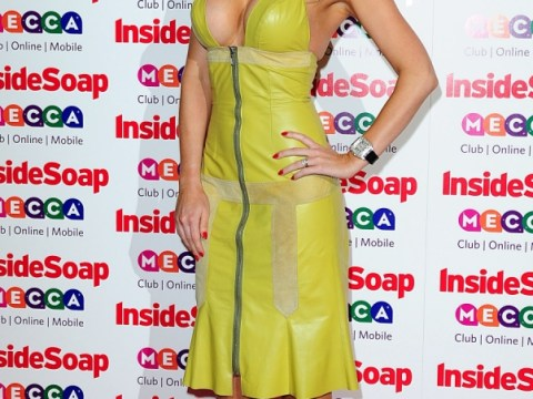 Inside Soap Awards 2013: Hollyoaks beauty Gemma Merna causes a stir in cleavage-baring yellow PVC dress