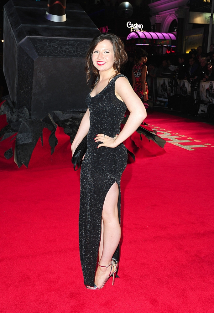 Abi Alton leaves fellow X Factor hopefuls in the shade in slinky dress at Thor: The Dark World premiere