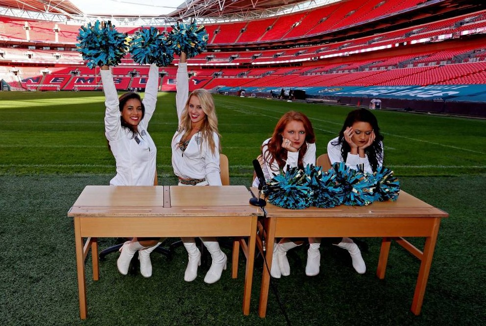 A Brit of something different: NFL cheerleaders tested on their Wembley knowledge