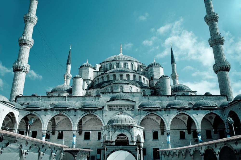 The Blue Mosque is in Istanbul's trendy Old City of Sultanahme (Picture: Alamy)