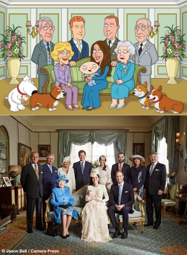 Family Guy royal christening spoof