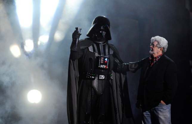 George Lucas with Darth Vader