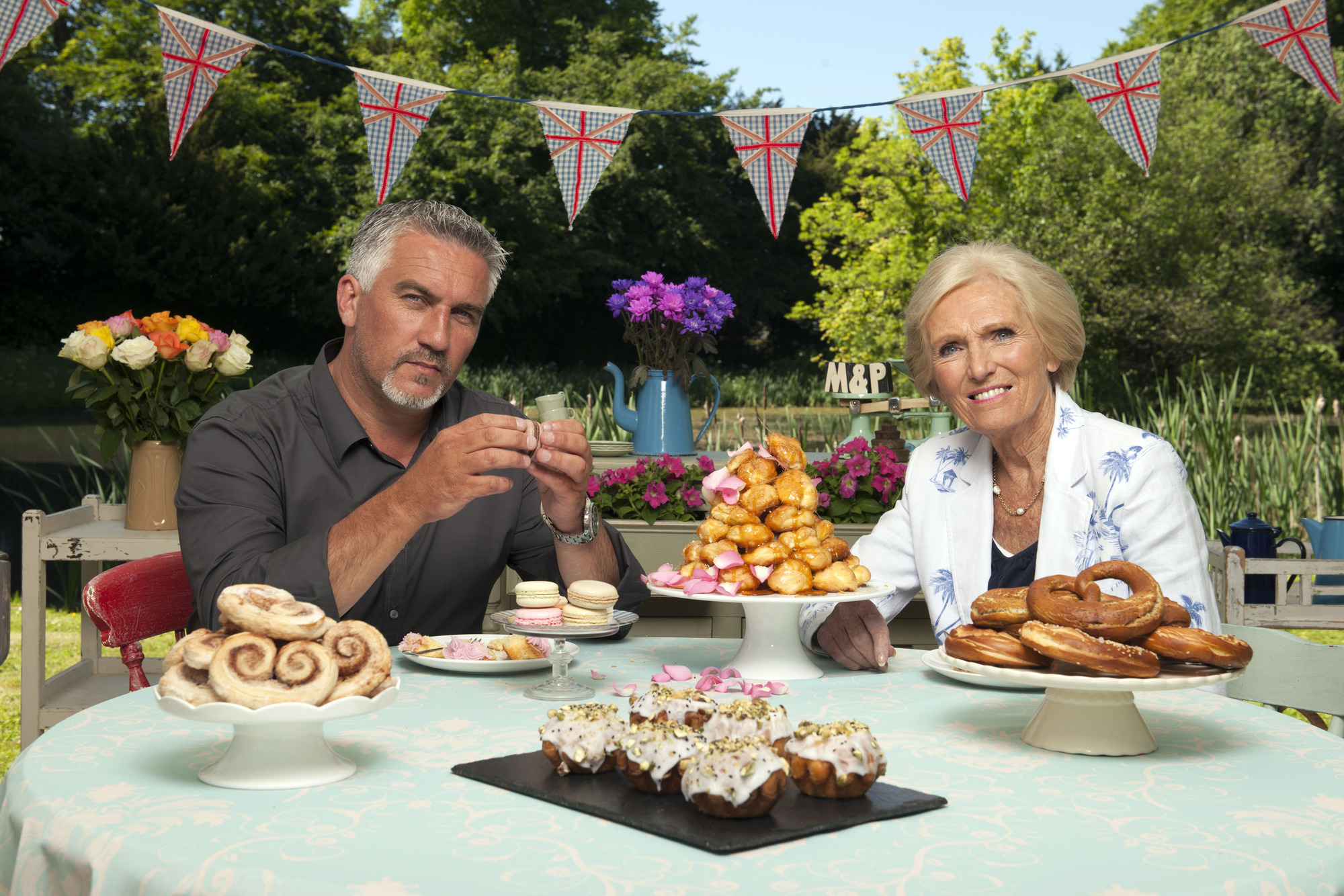 Great British Bake Off judges Paul Hollywood and Mary Berry have been a hit with viewers (Picture: BBC)