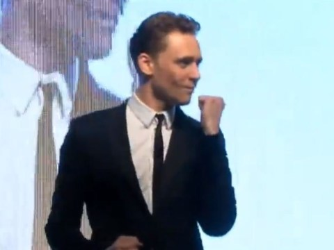 Tom Hiddleston dances and sings Michael Jackson for some reason