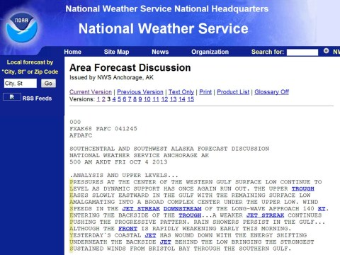 Please pay us: Angry weather forecasters post secret message about US shutdown