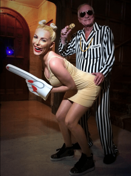 Hugh Hefner Dresses As Robin Thicke And Wife Crystal As ...