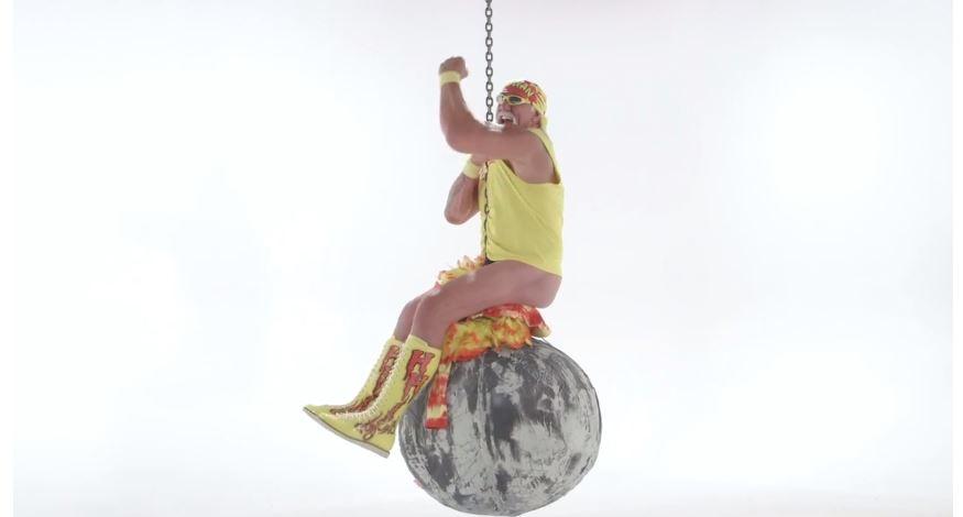 Hulk Hogan dons thong for very weird Miley Cyrus Wrecking Ball parody