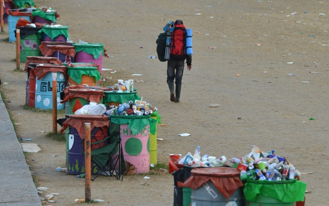 Those dreams you had of going to Glastonbury? They're in one of those bins (Picture: PA)