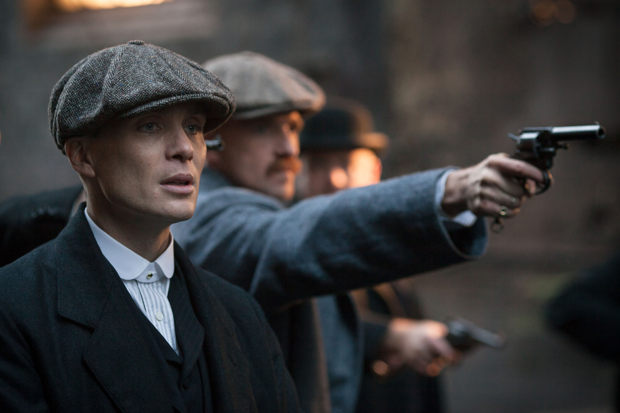 Cillian Murphy starred in the Birmingham-set drama Peaky Blinders (Picture: BBC)