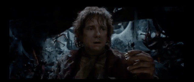Bilbo Baggins finds the ring in the new Hobbit trailer (Picture: Warner Bros)