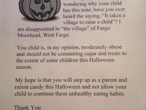 Overweight trick-or-treaters to get anti-obesity leaflets instead of sweets from one woman this Halloween