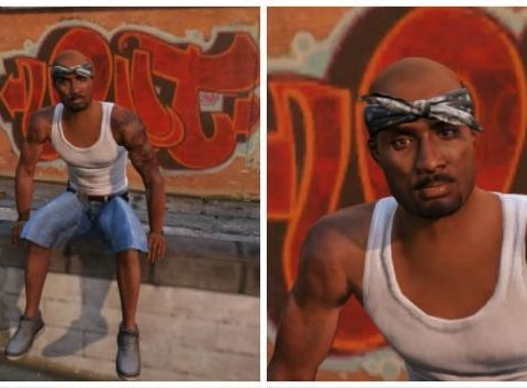 Tupac is alive, in GTA 5 at least