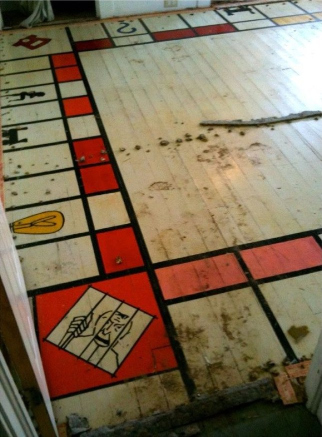 Reddit User Nnewel Discovers Giant Monopoly Board Under Carpet